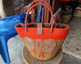 Africa sisal basket vintage
