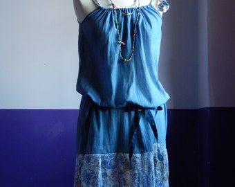 """""""On my cloud"""" tunic dress in cotton with strap and belt"""