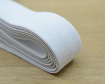 White Plush Elastic , Elastic Band, Waistband Elastic,Sewing Elastic ,11/4 inch 30mm