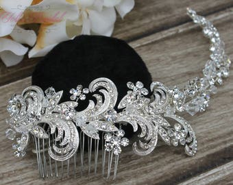 FAST SHIPPING!!! Bridal Hair Comb, Wedding Hair Comb, Crystal Hair Comb, Swarovski Hair Comb, Headpiece, Crystal Headpiece, Bridal Headpiece