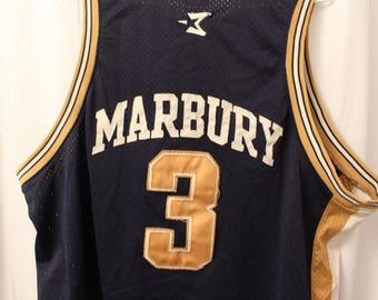 Vintage 90s Georgia Tech 3 Stephon Marbury Jersey - XL