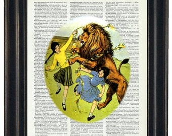 Upcycled Dictionary Art Narnia Print on Vintage Dictionary Page Prints