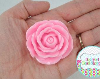 45mm Resin Flower Beads, 2ct, Light Pink