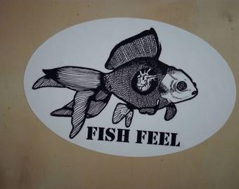 Fish Feel Sticker Vegan Animal Rights