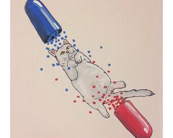 Pill Popper - 9x12 PRINT