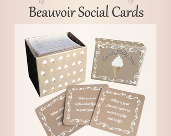The Art of Being Social Cards, Friends & Family Conversation Starters, Table Topics, Dinner Game, Family Game, Party Games, Kids Talk