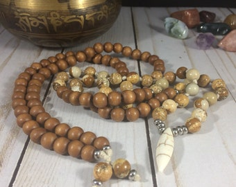 Men meditation mala men spiritual jewelry men yoga mala hand knotted mala knotted necklace meditation necklace knotted mala beads yoga beads