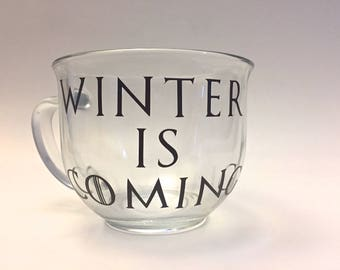 Winter Is Coming Glass Mug Game of Thrones