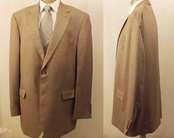 Hart Schaffner Marx Brown Nailshead Men's Sport Coat Size 44 XLT
