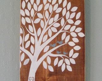 PERSONALIZED Nesting Family Tree - Wood Sign - Custom Wording