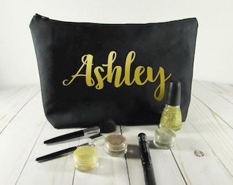 Monogram Makeup bag - Cosmetic Bag - Bridesmaid gift - Personalized bag - Gift for Her