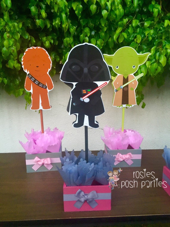 Pink Star Wars Baby Shower Or Birthday Centerpieces For Guest