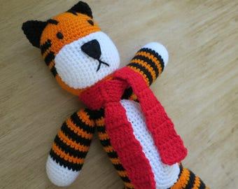 Crochet stuffed tiger