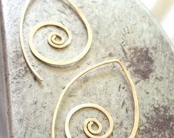 Kainani,  Swirl for interchangeable charms, Goldfilled wire swirl