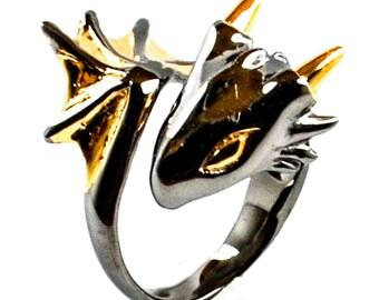 Black Knight Dragon Ring