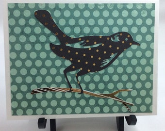 Bird on branch card
