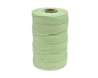Irish Waxed Linen Thread Mint Green 43682 (50gr, 100yds), Crawford Irish Waxed Linen Cording, 4-Ply Waxed Linen,  Green Linen Jewelry Cord