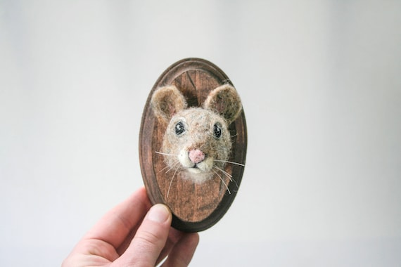 Tiny Wool Mouse