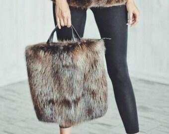 Real beaver fur purse