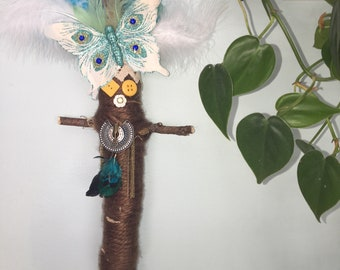 Brown and Blue Voodoo Doll