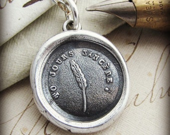 Always Sincere - wax seal necklace - Friendship Necklace - genuine friend - sincere at heart FR425