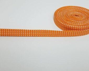 Orange and dots 100% cotton double fold bias tape boutique trim binding