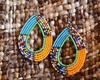 Amira Earrings(Multicoloured)/Kenyan earring/beautiful earrings/Maasai earrings