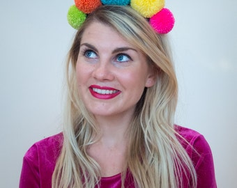 Summer Brights Giant Pom Pom Headband