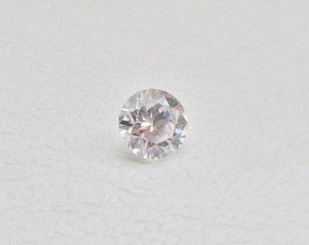 Round 2 mm-12 mm Cubic Zirconia 1 pcs