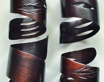 Hand Carved African Baobab Tree Bracelets