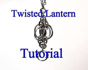 Tutorial for Twisted Lantern Pendant in 4 sizes by Brilliant Twisted Skulls