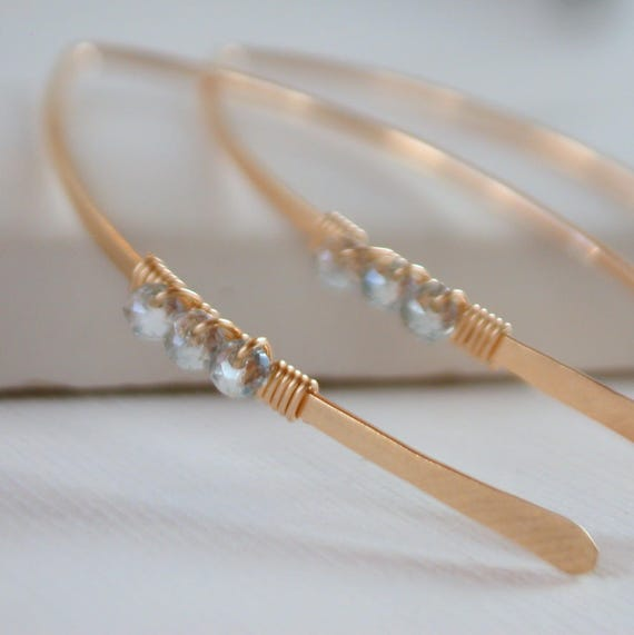 Crystal Wrapped Curving Earrings