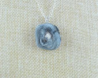 Blue chalcedony pendant.