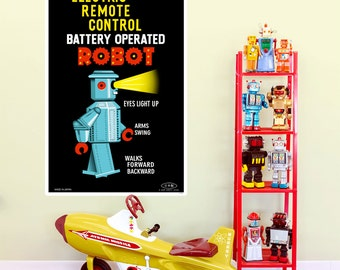 Electric Robot Tin Toy Wall Decal - #55075