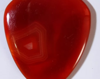 Guitar pick made from stone - red Agate - new