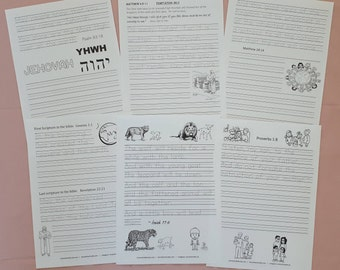 aHandwriting Scriptures from New World Translation for JW Children
