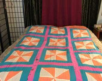 Traditional Ralli Quilt: Pastels