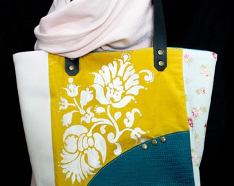 Hand painted tote bag