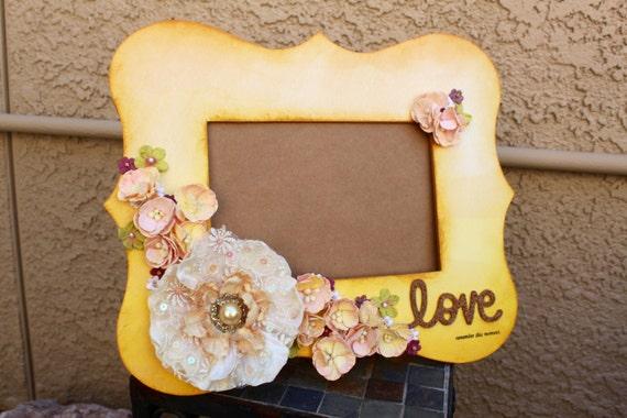 3d Frames, Flower Frame, Handmade Frame, Home Decor, Yellow Picture ...