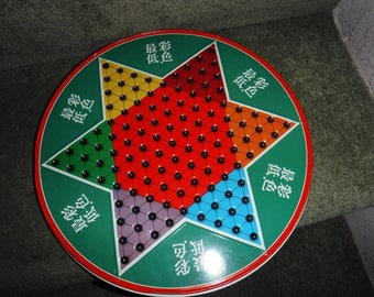 VINTAGE Chinese Checker/ Checkers & Marbles Game Ohio Art Co. Made In Japan