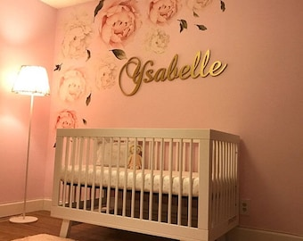 Personalized Baby Girl Nursery Decor Wood Letters Wall Letters Wooden  Letters For Nursery Wall Decor Wooden