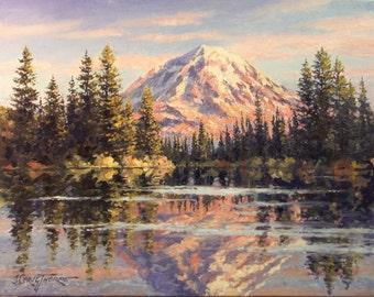 Mt. Rainier from Lake Eunice
