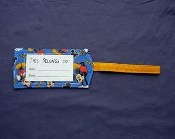 Bag Tag / Luggage Tag - Mickey Mouse