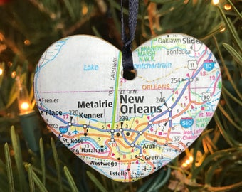 New Orleans Map Ornament