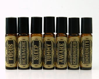 Aromatherapy Oils - Roll On Essential Oil Blends - Organic Jojoba Base Perfume