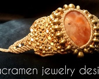 Handmade Unique Macrame Bracelet Jewelry M0104