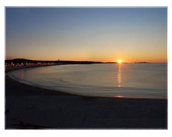 Original Photo Art of Sunrise on Long Beach in Gloucester, MA