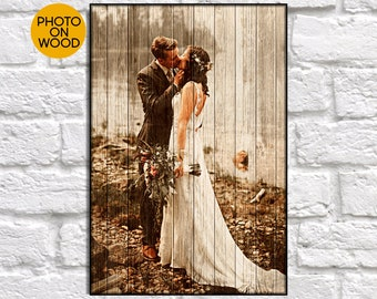 Rustic wedding gifts for Bridal shower gift Wood Photo Personalised wedding gift for Couples gift for Men gift for Women Wood picture frame