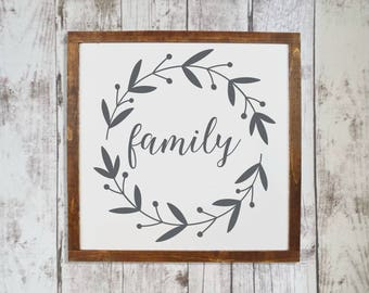 Family wall decor, Family sign, Hanging wall decor, Farmhouse living room decor, Farm signs, Rusting signs, Mother's day gift Wooden sign 98