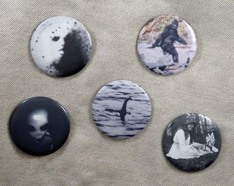 Set of Cryptozoology pins